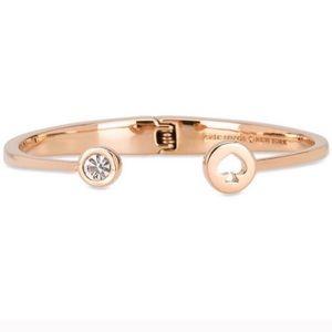 NWT Kate Spade Spot the Spade bangle bracelet gold